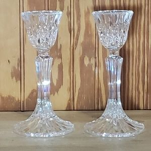 Other - 2 Crystal taper candle holders